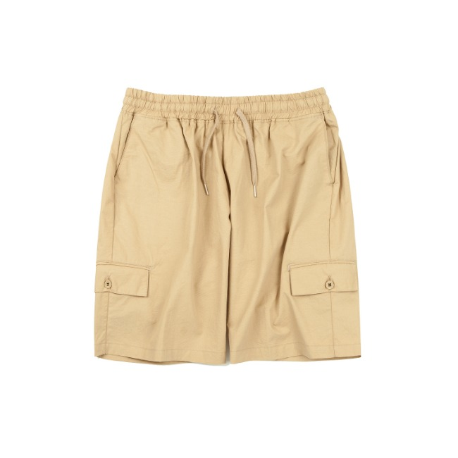 MULTI POCKET BANDING PANTS BEIGE