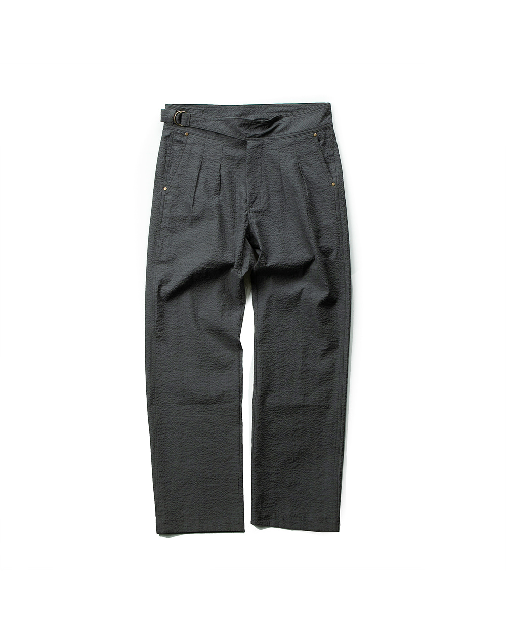 SEERSUCKER GURKHA PANTS GRAY