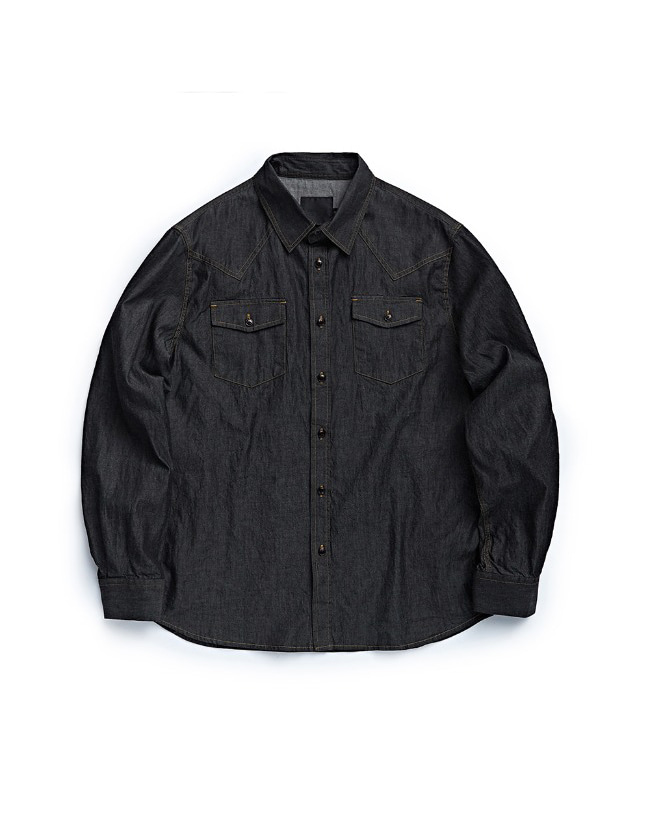 WESTERN DENIM SHIRT BLACK