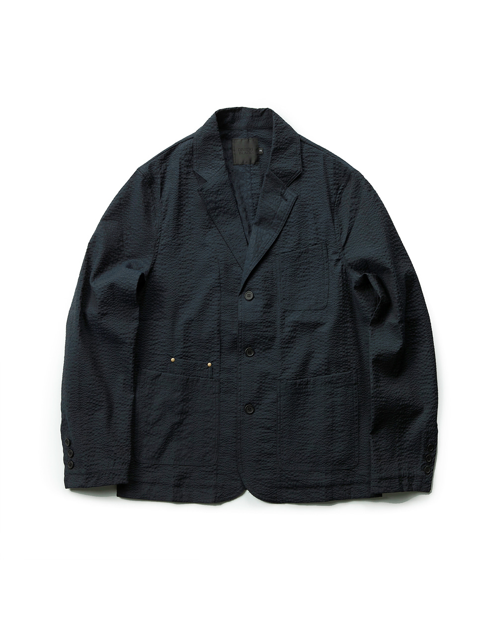 SEERSUCKER SHOOTING JACKET NAVY