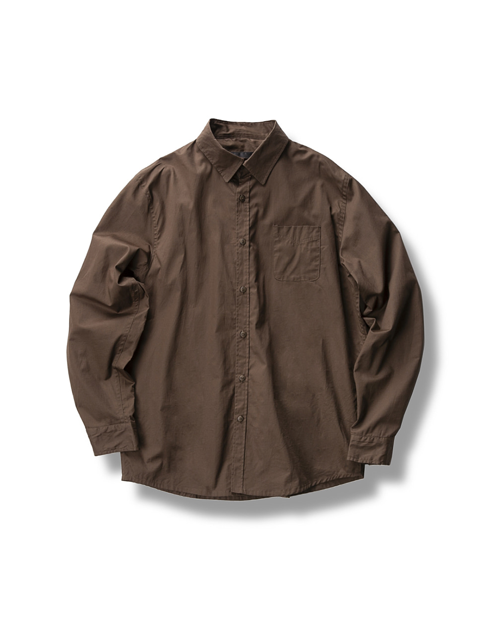 PRACTICAL ROUND SHIRTS BROWN
