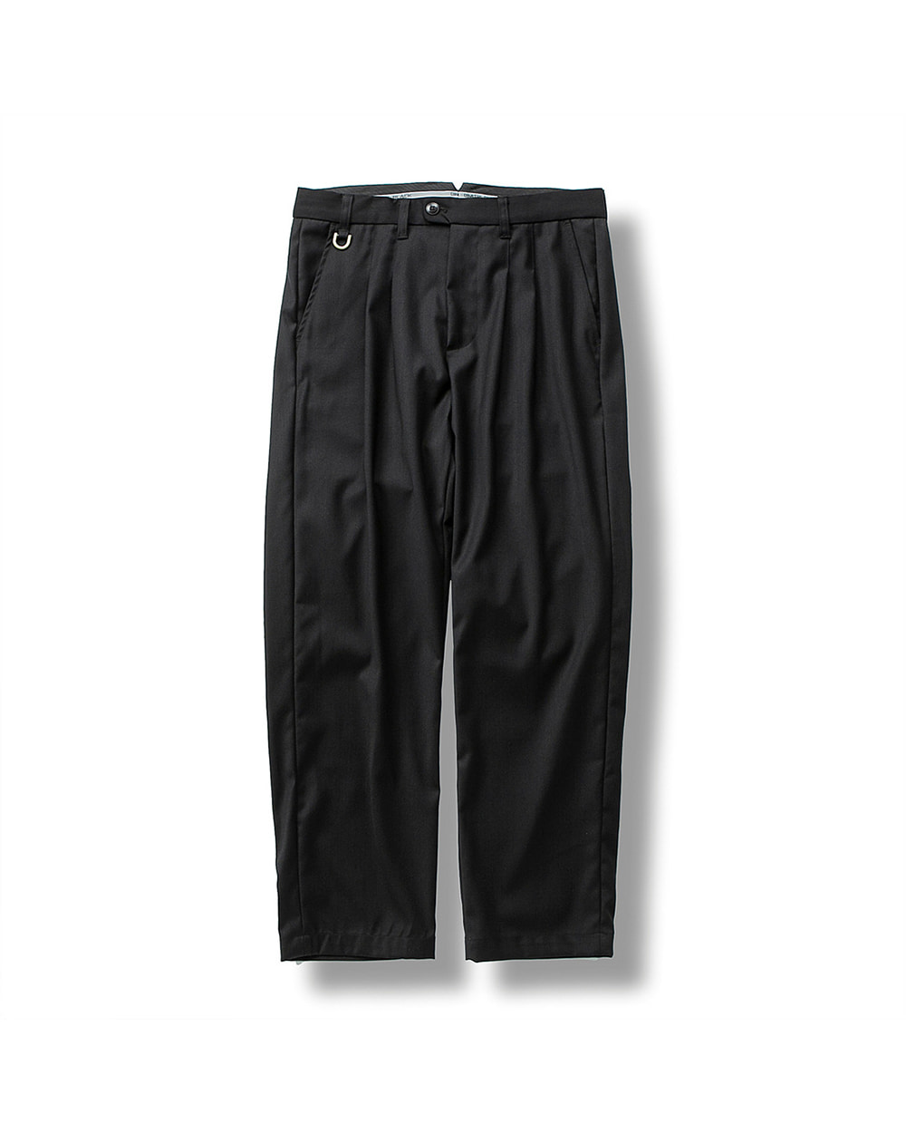 (FW) DOUBLE PLEATS TROUSER BLACK