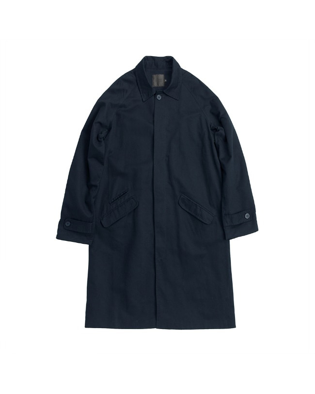 TRIPLE STITCH BALMACAAN COAT NAVY