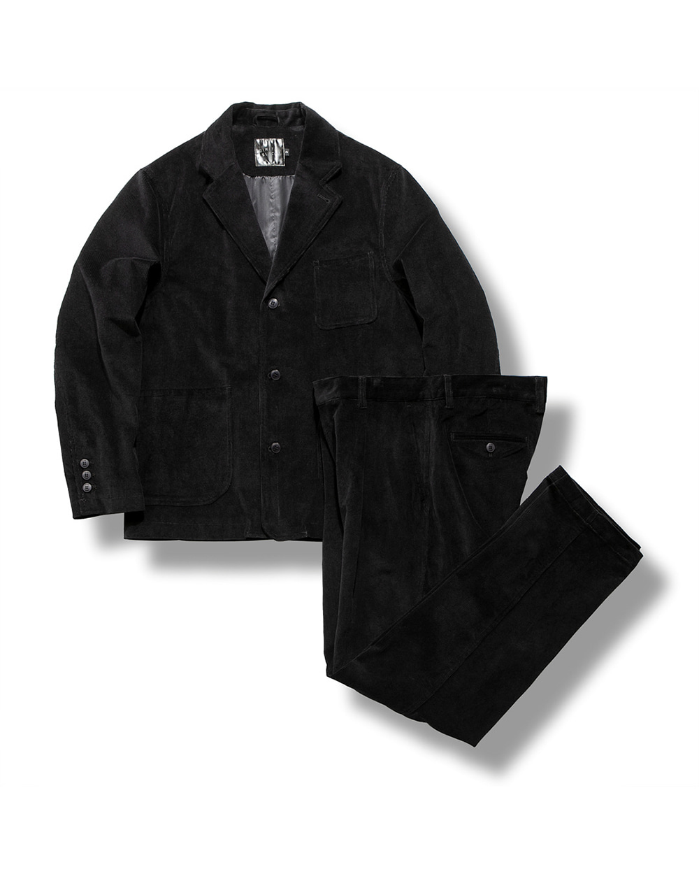 CORDUROY SET UP BLACK