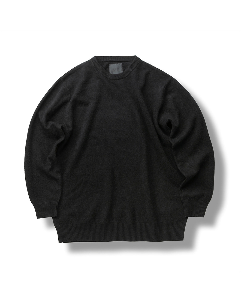 FINE WOOL CREWNECK KNIT BLACK