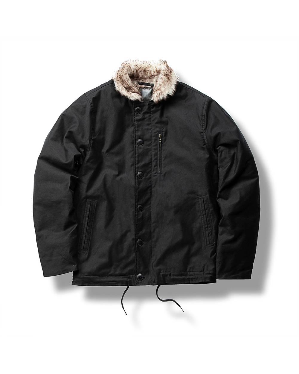 MICRO FUR DECK JACKET BLACK