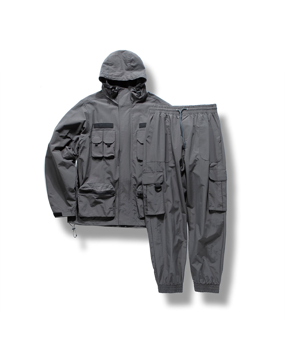 (VLADIMIR) WATERPROOF SET-UP (WIND JACKET) GRAY