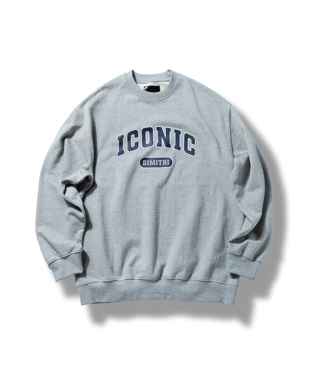 ICONIC SWEAT SHIRT MELANGE GRAY