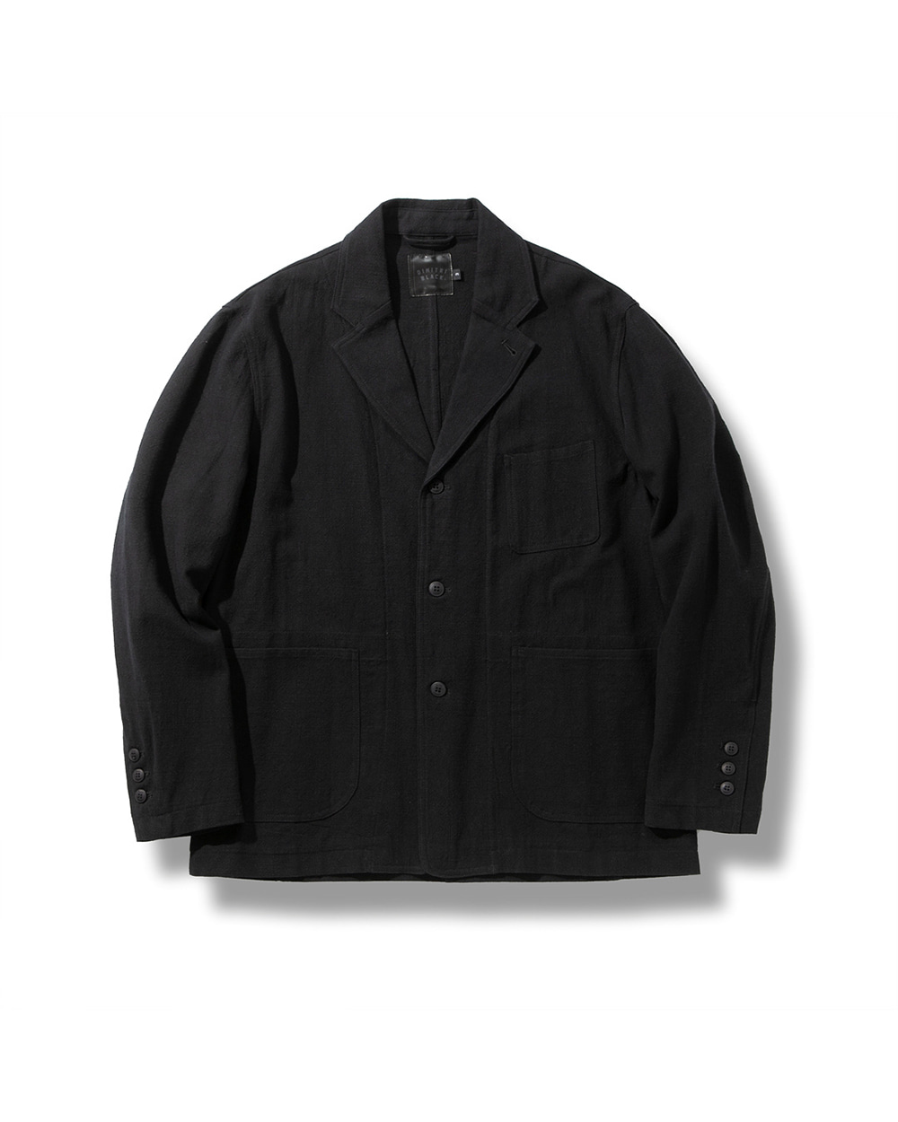 LINEN DAILY JACKET BLACK