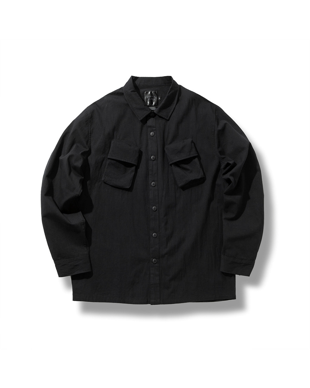 CARGO POCKET UTILITY SHIRTS BLACK