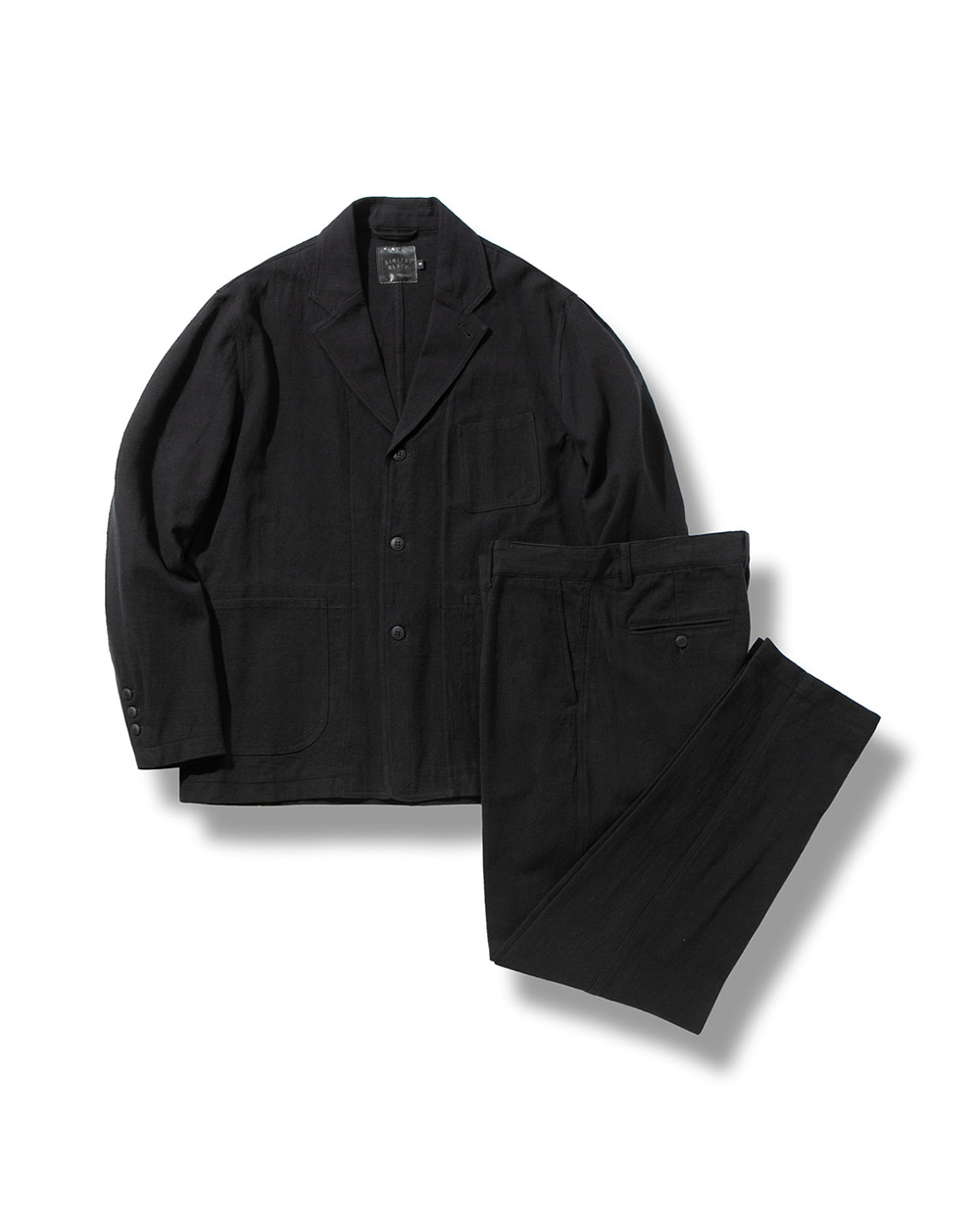 (여름용)LINEN DAILY SET-UP BLACK