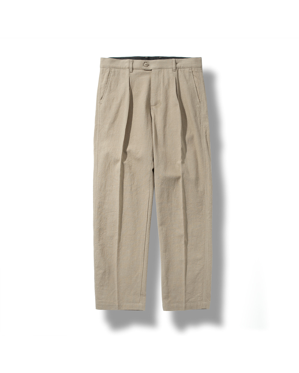 LINEN TAPERED PANTS BEIGE