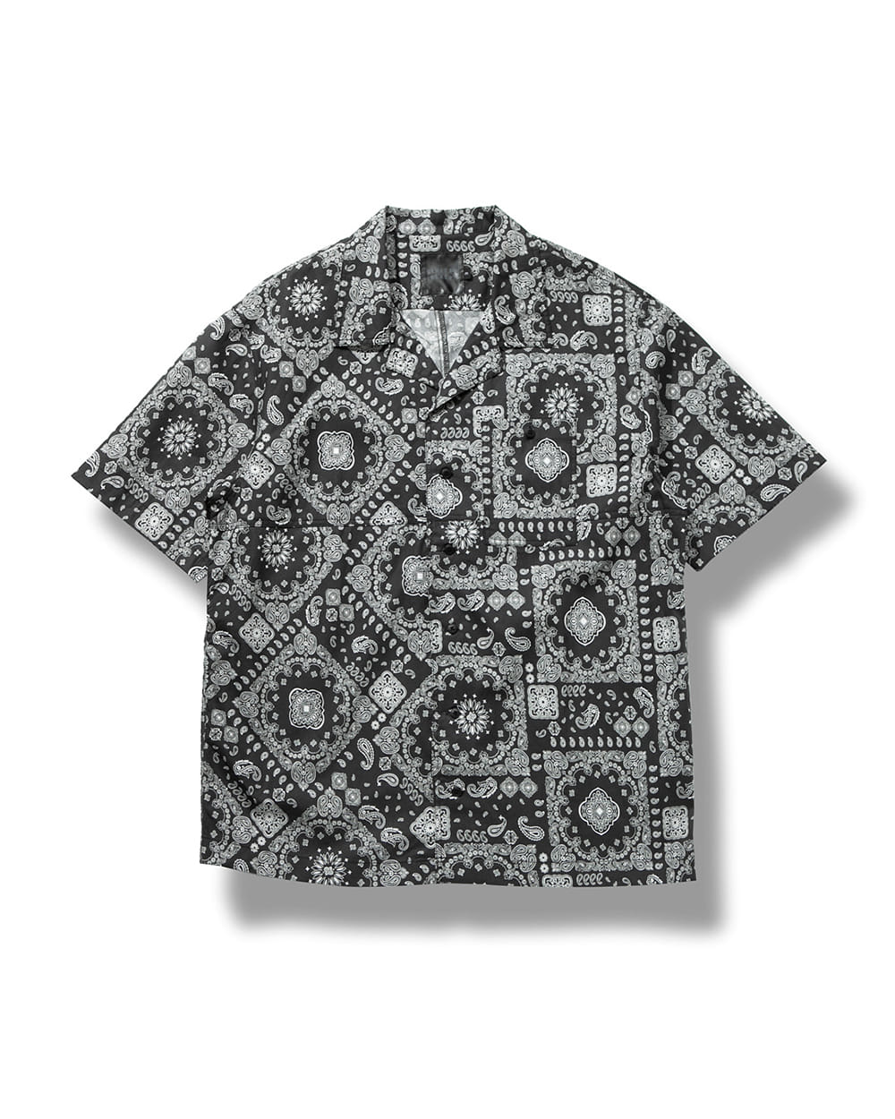 OBLIQUE PAISLEY SHIRTS BLACK