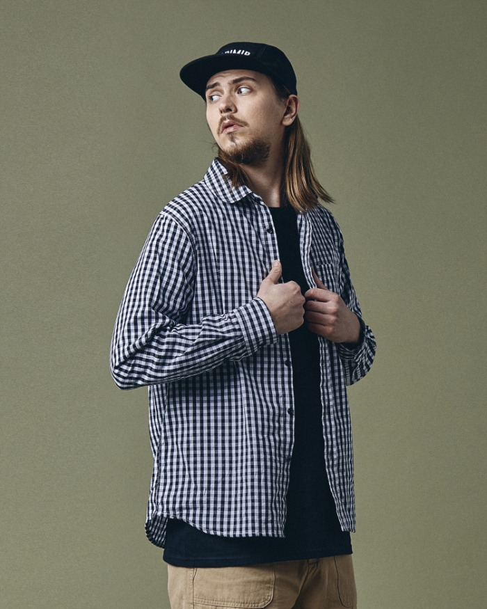 ROUNDNECK CHECK SHIRT