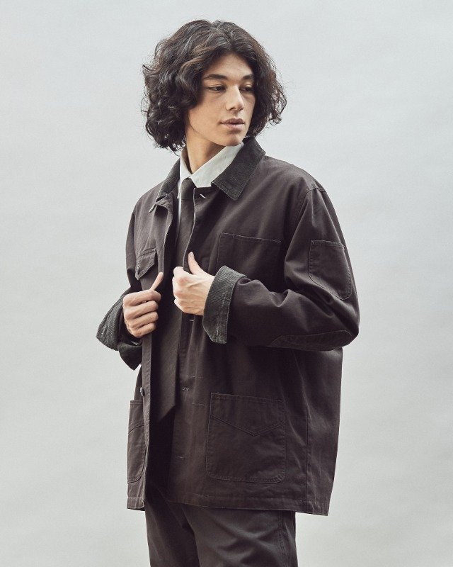 FRENCH WORK JACKET CHARCOAL