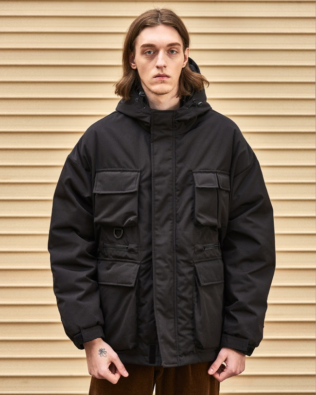 (VLADIMIR) UTILITY DOWN JACKET BLACK