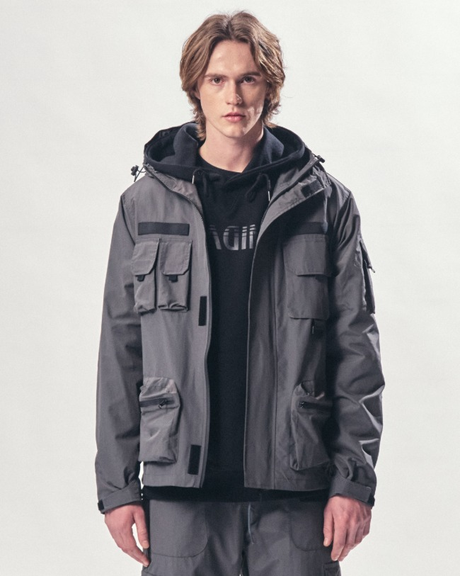 (VLADIMIR) WATERPROOF WIND JACKET GRAY