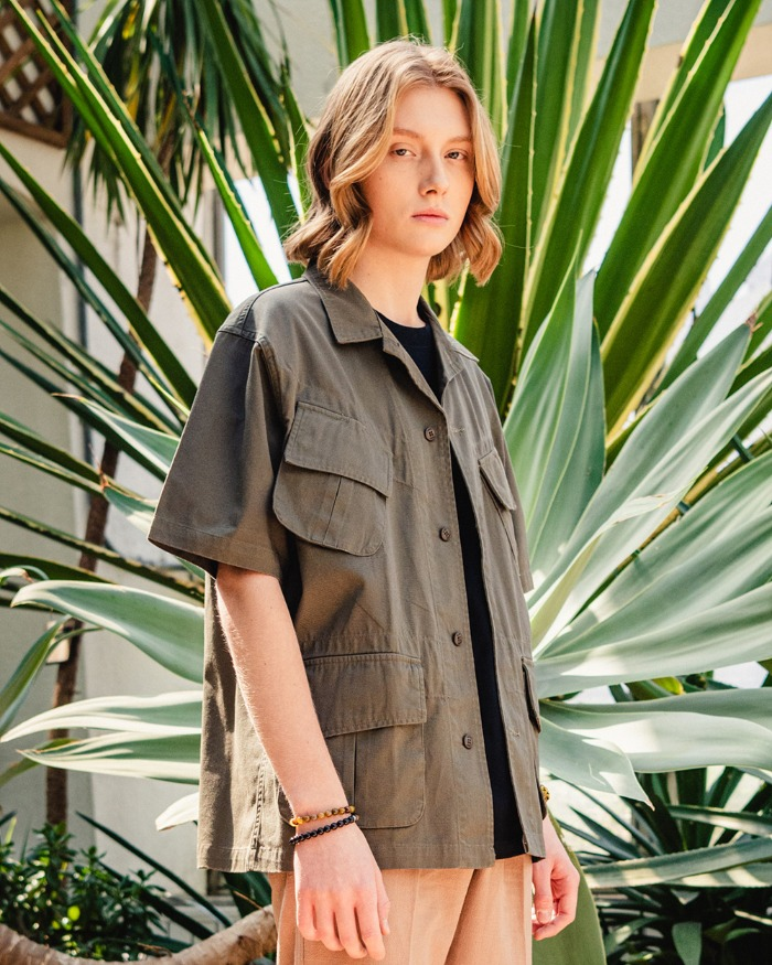 UTILITY JUNGLE HALF SHIRTS OLIVE