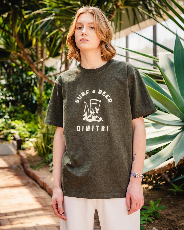DYMAX SURF & BEER T-SHIRTS OLIVE